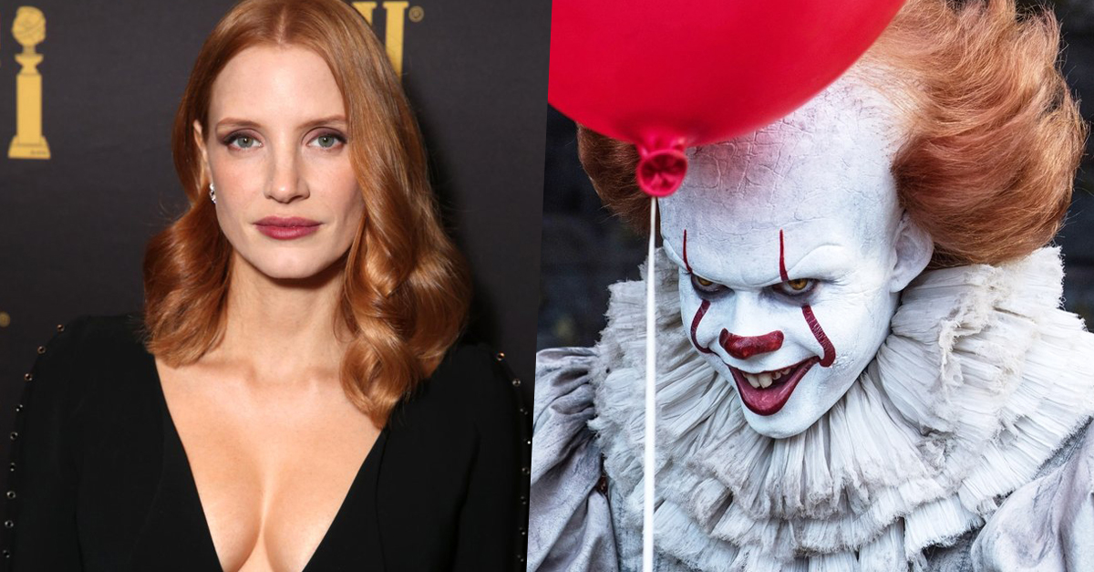 Jessica Chastain gyűri le a horrorbohócot?